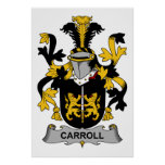 Carroll Family Crest Poster
