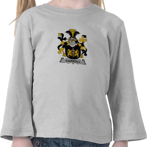 Carroll Family Crest T Shirts