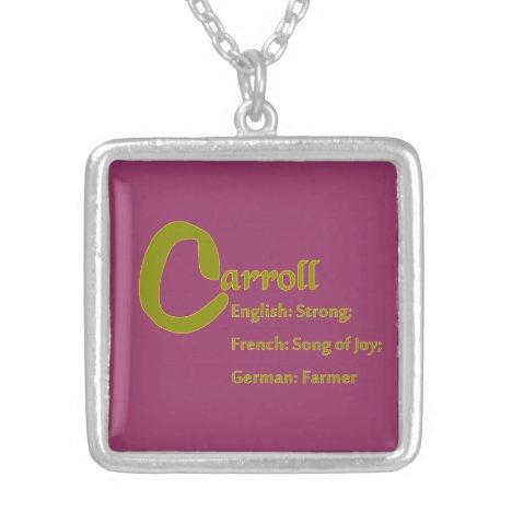 Carroll Necklace