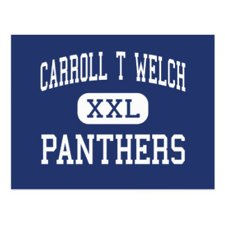 Carroll T Welch Panthers Middle Horizon City Postcard