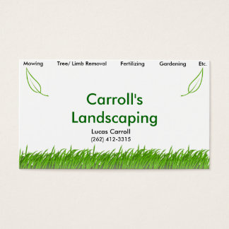Carroll's Landscaping Business Card
