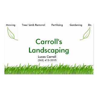 Carroll's Landscaping Double-Sided Standard Business Cards (Pack Of 100)