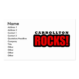 Carrollton, Alabama City Design Double-Sided Standard Business Cards (Pack Of 100)