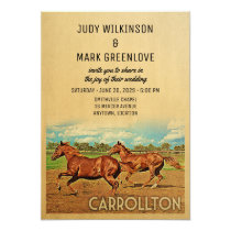 Carrollton Texas Wedding Invitation Horses