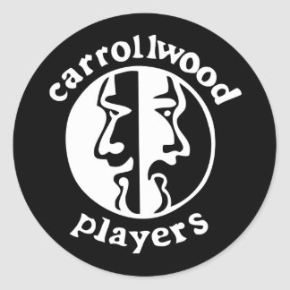 Carrollwood Players Classic Round Sticker