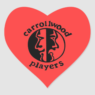 Carrollwood Players Heart Sticker