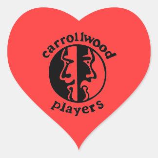 Carrollwood Players Heart Sticker