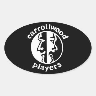 Carrollwood Players Oval Sticker