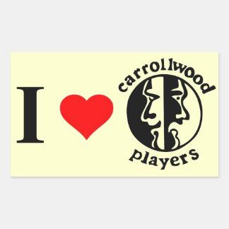 Carrollwood Players Rectangular Sticker