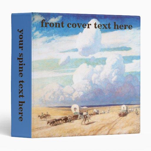 Carros cubiertos por Wyeth, vaqueros occidentales