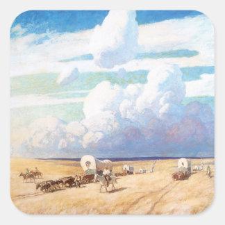 Carros cubiertos por Wyeth vaqueros occidentales