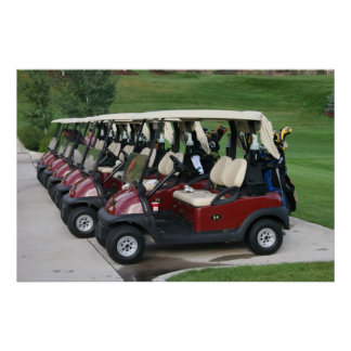 Carros de golf póster