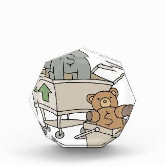 Carros de la compra de Bull y del oso
