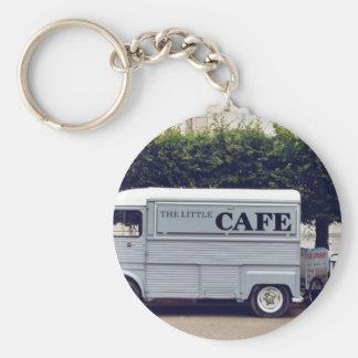 Carros del camión y del helado de Caf� Llavero Redondo Tipo Pin