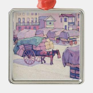 Carros del heno, mercado del Cumberland (aceite en Adorno Para Reyes
