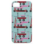 Carros rosados rojos de las vespas del transporte  iPhone 5 Case-Mate carcasa