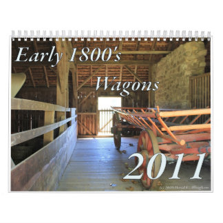 Carros tempranos 1800's calendarios de pared