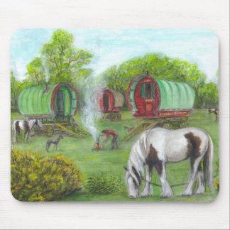 Carros y caballos gitanos tapete de ratones