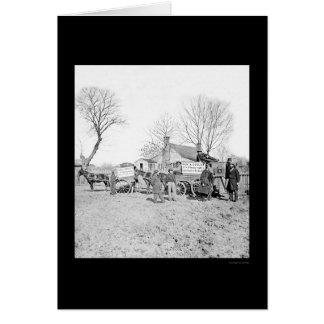 Carros y cámara de Sam A. Cooley 1862 Tarjeta De Felicitación