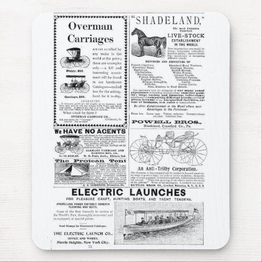 Carros y más anuncios tapete de ratón