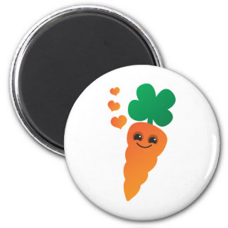 Carrot 2 Inch Round Magnet