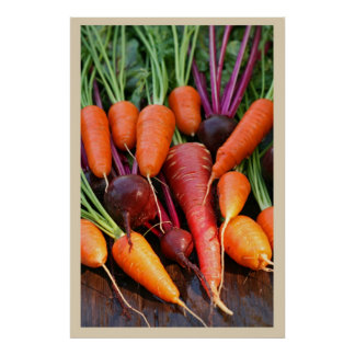 Carrot and Beet Root Print