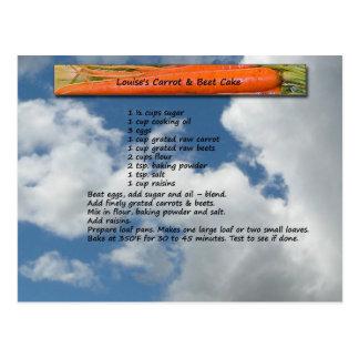 Carrot & Beet Cake Recipe Postcard