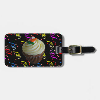 Carrot Cake Cupcake with Confetti Bag Tag