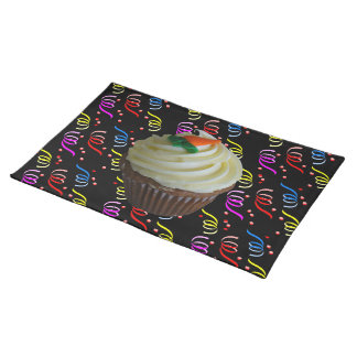 Carrot Cake Cupcake with Confetti Placemat