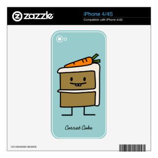 Carrot Cake slice bunny teeth icing dessert iPhone 4S Skin