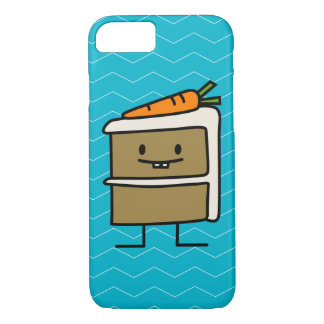 Carrot Cake slice bunny teeth icing dessert iPhone 8/7 Case