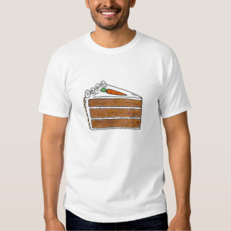 Carrot Cake Slice with Cream Cheese Frosting Tee