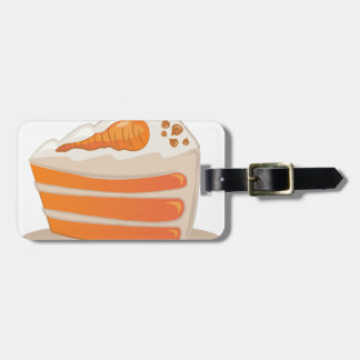 Carrot Cake Tag For Luggage