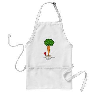 Carrot Cartoon - Veggie apron