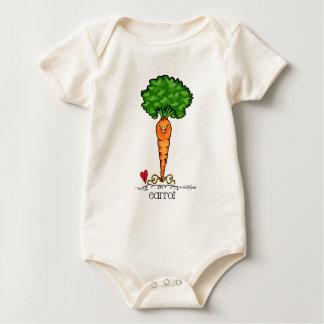 Carrot Cartoon - Veggie Baby Bodysuit