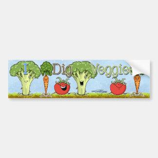 Carrot Cartoon - Veggie bumper sticker Car Bumper Sticker
