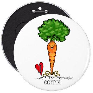 Carrot Cartoon - Veggie button
