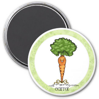 Carrot Cartoon - Veggie magnet