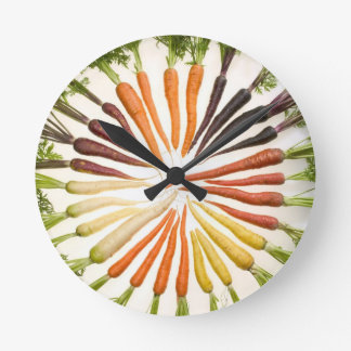 Carrot Color Wheel Round Clock