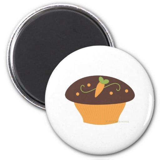 Carrot Cupcake Fridge Magnet