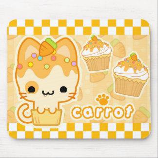Carrot Cupcake Kitty Mousepad