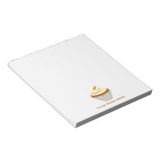 Carrot Cupcake Personalized Notepad