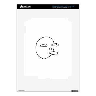 Carrot Face.jpg Skin For iPad 3