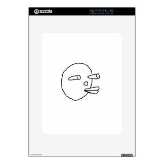 Carrot Face.jpg Decal For iPad