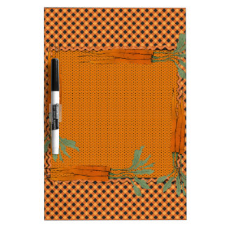 Carrot Frame, Gingham Pattern, Dots Dry Erase Board