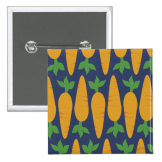Carrot Garden At Night 2 Inch Square Button