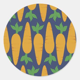 Carrot Garden At Night Classic Round Sticker