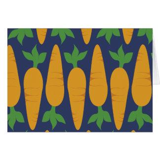 Carrot Garden At Night Greeting Card