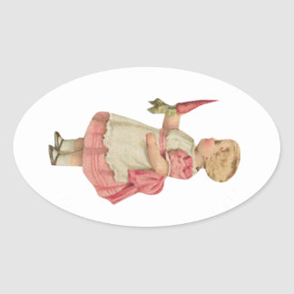 Carrot Girl Customizable Oval Sticker