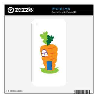 Carrot House Skin For iPhone 4